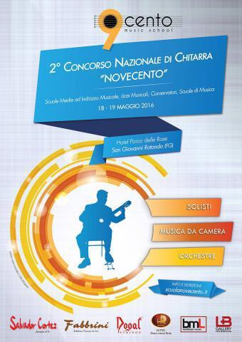 """2° Concorso Nazionale di Chitarra """"Novecento"""""""