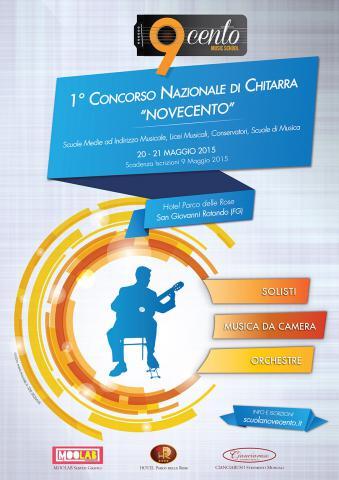 """1° Concorso Nazionale di Chitarra """"Novecento"""""""